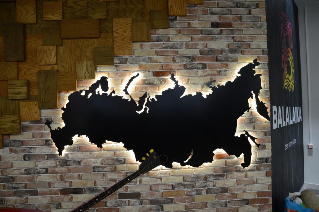 Карта с диодной подсветкой